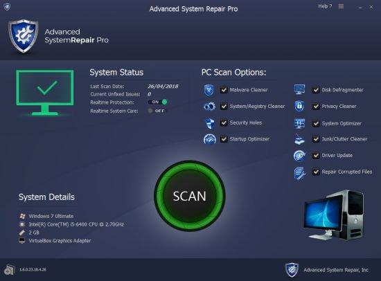 Advanced System Repair Pro 1.9.3.9 Serial Key Crack Full Download