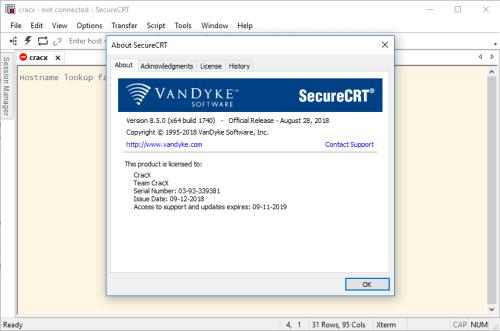 SecureCRT 9.1.0.2507 Crack + Serial Number Download 2021